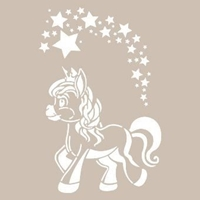 AS460 - A4 Stencil Unicorn resmi